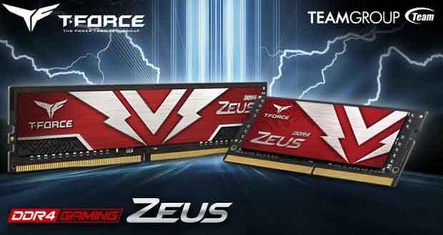 Mémoire vive T-Force Zeus DDR4 U-DIMM et SO-DIMM
