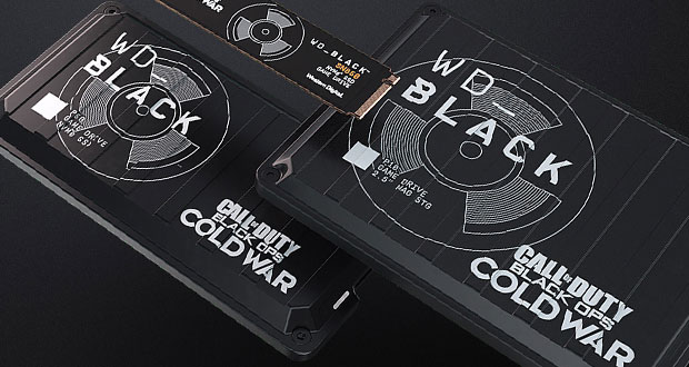 Editions Collector Call of Duty: Black Ops Cold War du WD_BLACK P10 Game Drive, WD_BLACK P50 Game Drive SSD et WD_BLACK SN850 NVMe SSD PCIe Gen4.