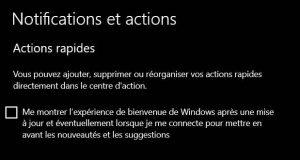 Windows10 - Notifications et actions
