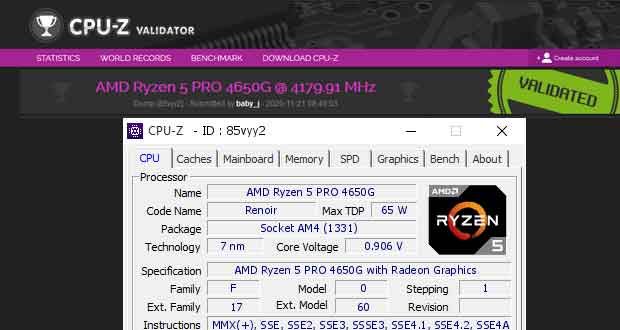 GPU-Z Validation – DDR4-7004