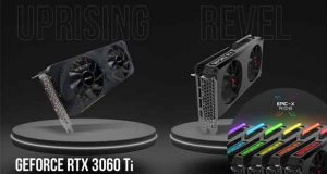 La GeForce RTX 3060 Ti 8GB XLR8 Gaming REVEL EPIC-X RGB et la GeForce RTX 3060 Ti 8GB UPRISING Dual Fan Edition