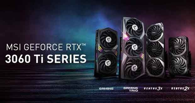 GeForce RTX 3060 Ti Ventus et Gaming de MSI
