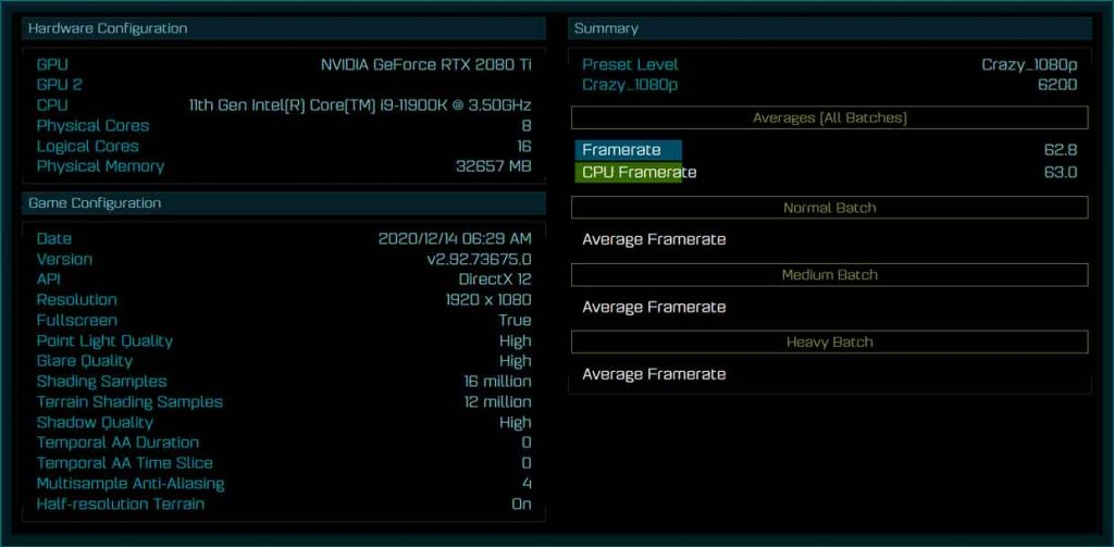 Core i9-11900K - benchmark de « the Ashes of The Singularity