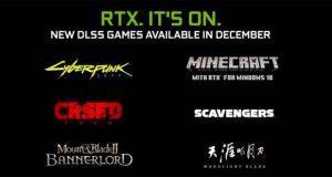 Nouveaux jeux compatibles avec la technologie Nvidia DLSS