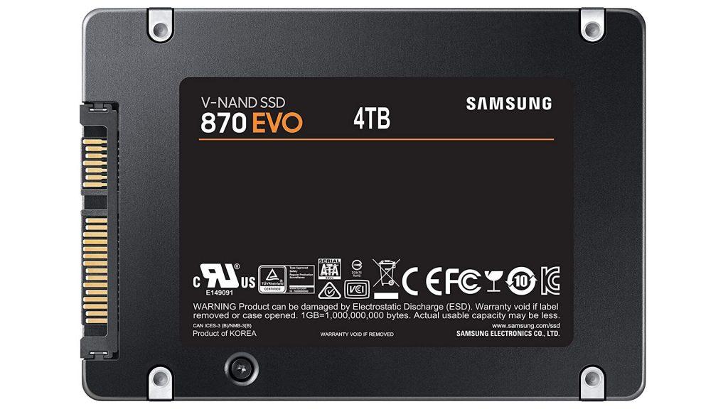 SSD 870 EVO 4 To de Samsung
