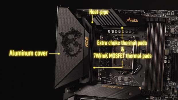 Design du dissipateur de la MEG Z590 ACE