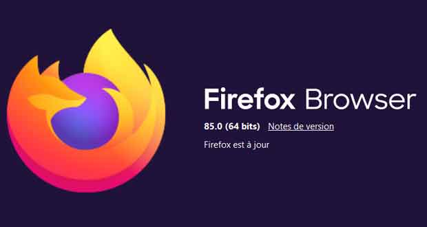 Navigateur Firefox 85 de Mozilla