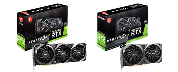 GeForce RTX 3060 Ventus series de MSI