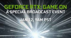 Evènement Nvidia GeForce RTX Game On (CES 2021)