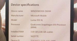 Windows 10X installé sur un Lumia 950 XL