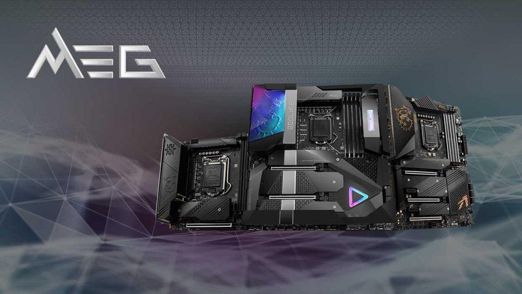 Cartes mères Intel MEG 500 series de MSI