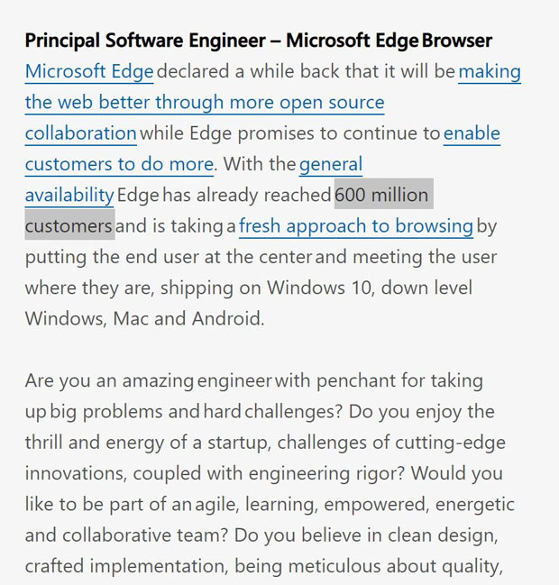 Offre d'emploi Microsoft – Principal Software Engineer