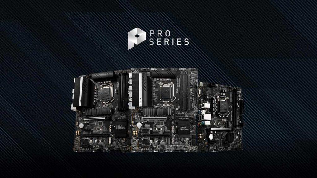 Cartes mères Intel Pro 500 series de MSI