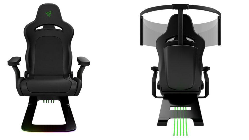 Projet Brooklyn de Razer : Un fauteuil gaming en fibre de carbone avec un éclairage RGB équipé d'un écran de 60 pouces pour des visuels panoramiques.