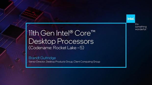 Processeur Core Rocket Lake-S d'Intel