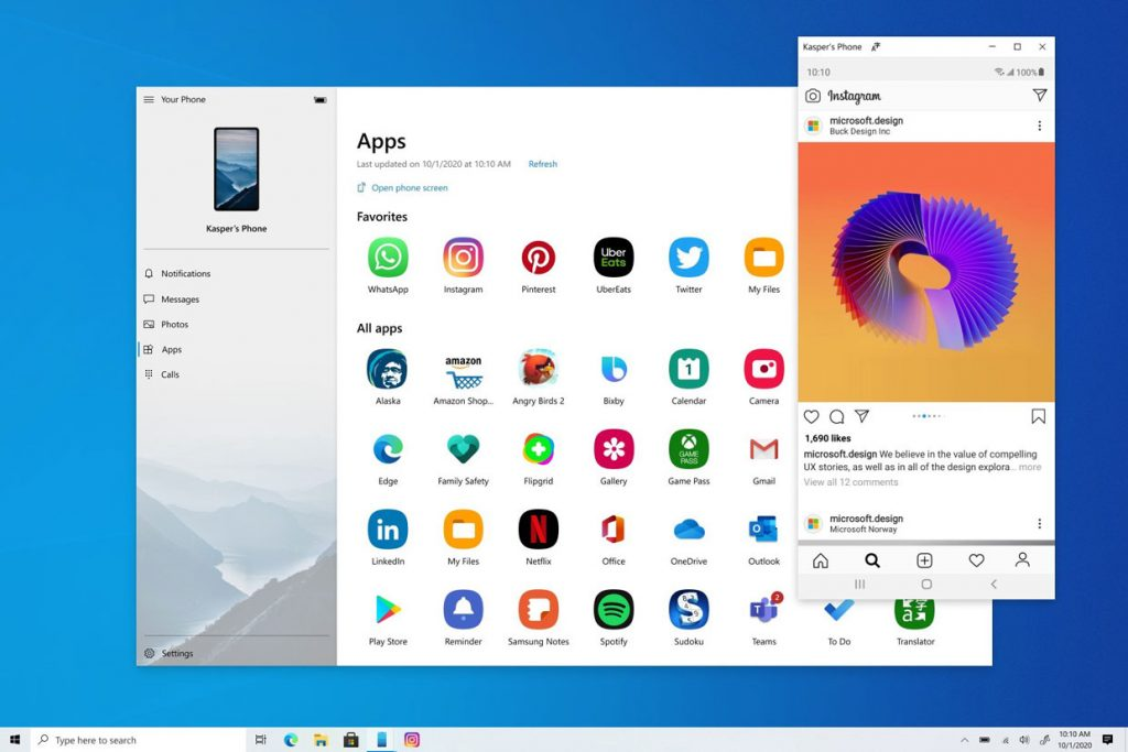 Windows 10 et les applications Android
