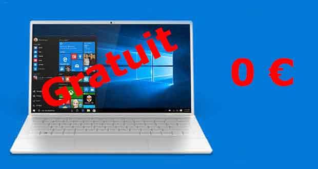Windows 10 est gratuit pour les PC Windows 7