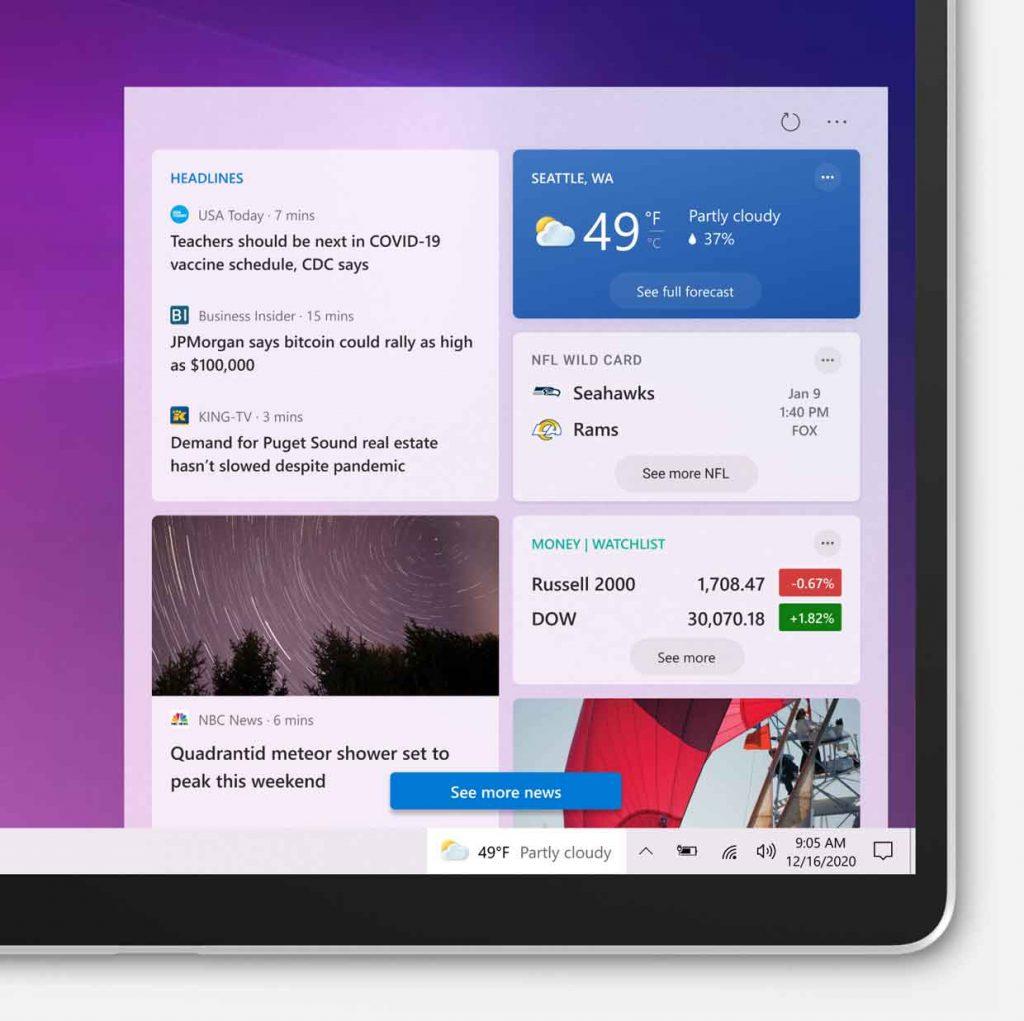 Windows 10 build 21286 et la nouvelle barre des tâches