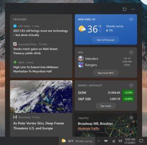 Windows 10 build 21292 et la nouvelle barre des tâches