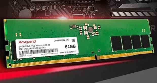 Barrette mémoire DDR5-4800 64 Go d'Asgard
