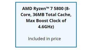 Processeur AMD Ryzen 7 5800