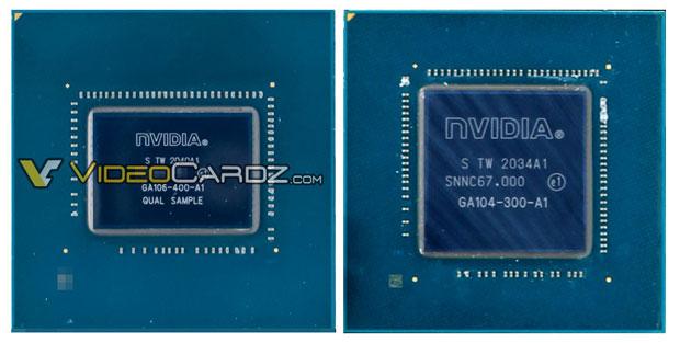 GPU Nvidia GA106-400 et GA106 -300