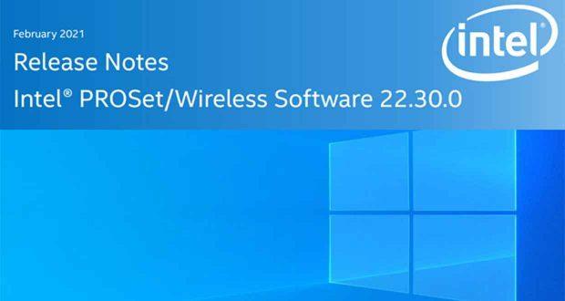 Pilotes sans fil Intel PROSet/Wireless Software