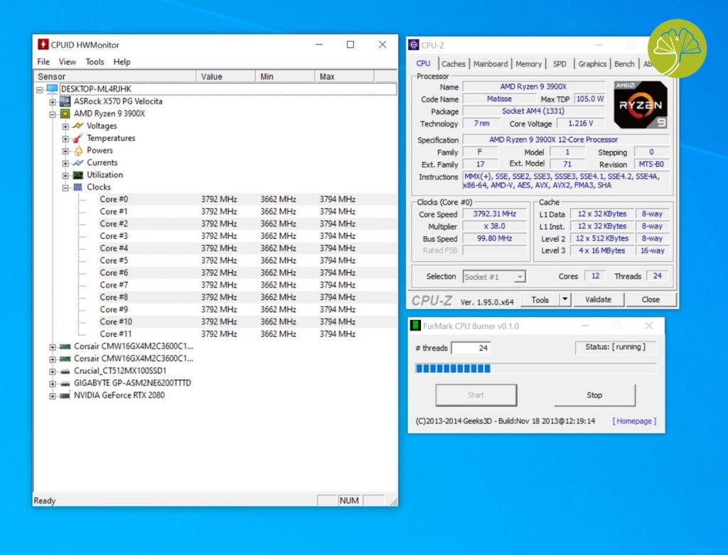 X570 PG Velocita - Ryzen 9 3900X
