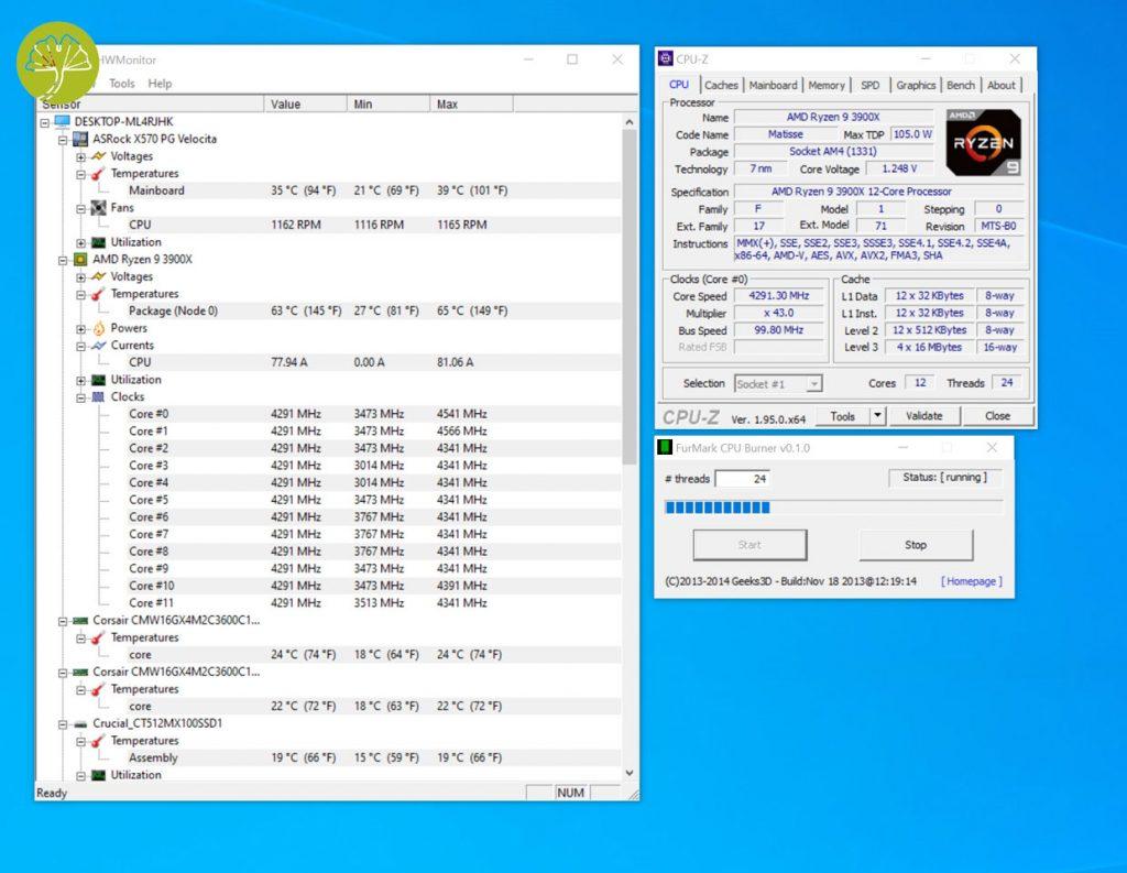 X570 PG Velocita - Ryzen 9 3900X OC
