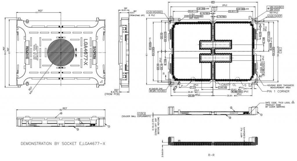 Processeur Intel Sapphire Rapids-SP - Socket LGA 4677-X