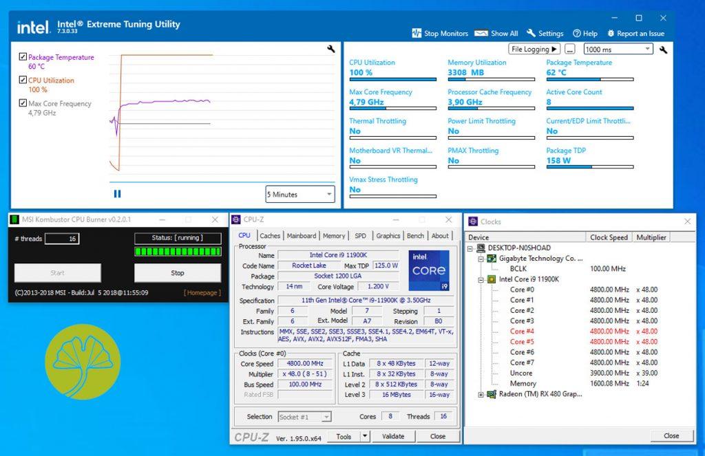 Core i9-11900K - Technologie Adaptive Boost désactivée