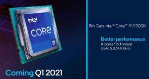 Processeur Intel Core i9-11900K