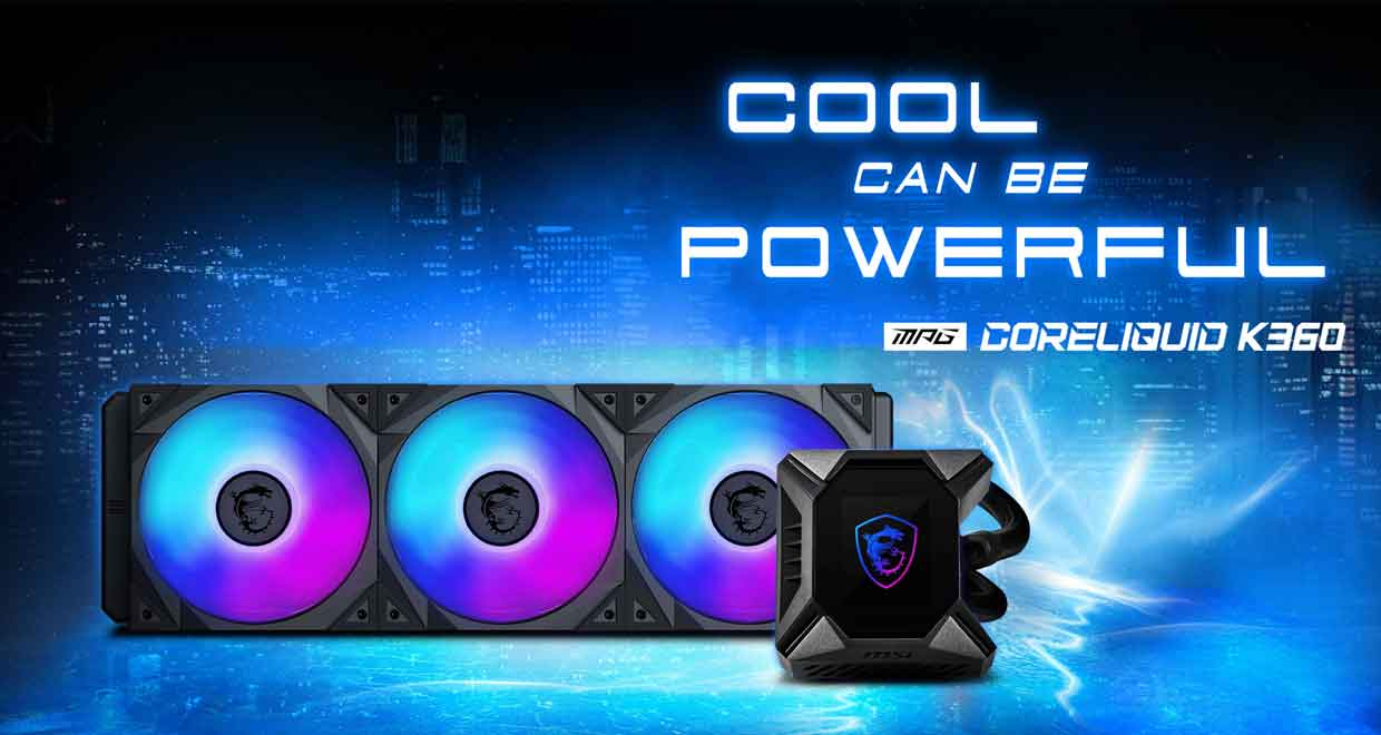 Watercooling AIO MPG CORELIQUID K360 de MSI
