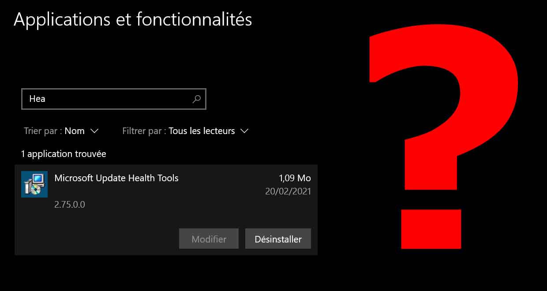 Windows 10 et Microsoft Updates Health Tools