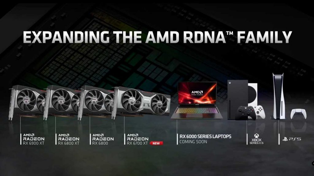 GPU RX 6000 series Laptops d'AMD