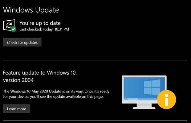 Windows 10 May 2020 Update - Des problèmes de compatibilités sont présents
