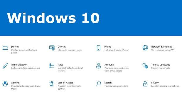 Windows 10, de nouvelles icones systèmes débarquent