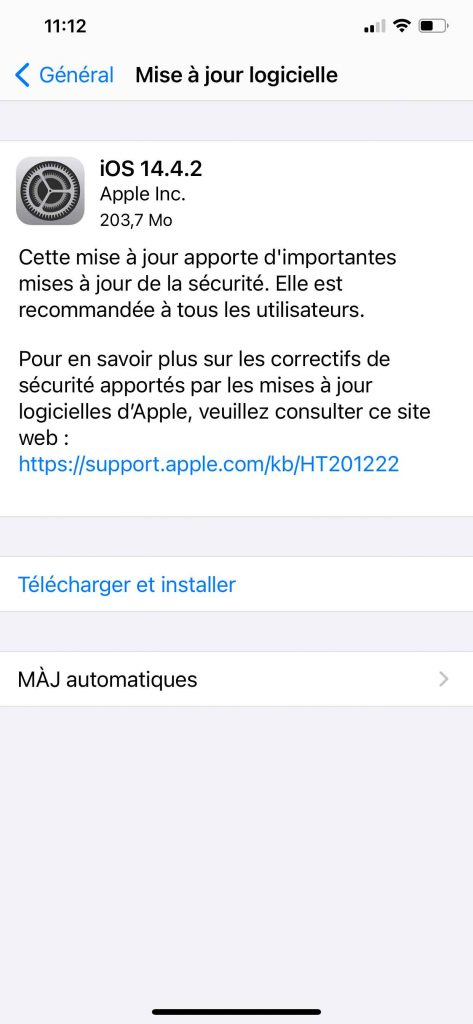 iOS MAJ 03 473x1024 - iPhone, iOS 14.4.2 released, what's new?  - GinjFo