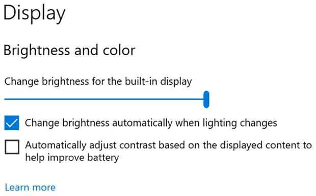 Windows 10 build 21354 - Display