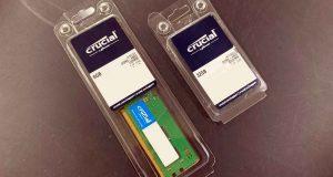 Barrettes mémoire DDR5 4800 MHz CL40 de Crucial