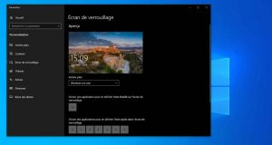 Windows 10 et l'écran de verrouillage