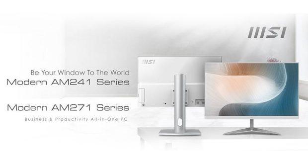 PC All In One Modern AM241 et AM271 de MSI
