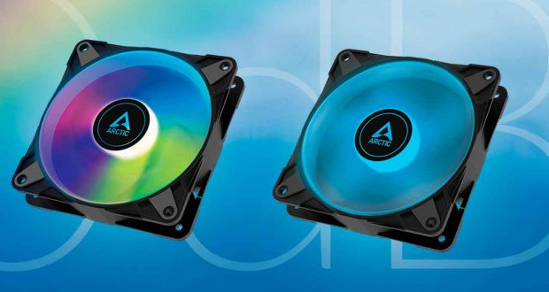 Ventilateur Artic P12 PWM PST RGB 0dB et P12 PWM PST A-RGB 0dB.