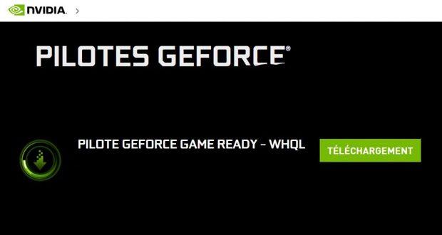 Pilotes graphiques GeForce WHQL de Nvidia