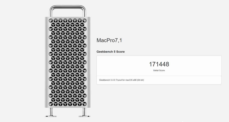 Mac Pro équipé d'une Radeon Pro X6900X