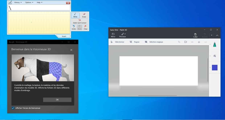 Windows 10 et certaines de ses applications natives