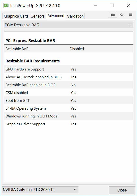Utilitaire GPU-Z v2.40.0