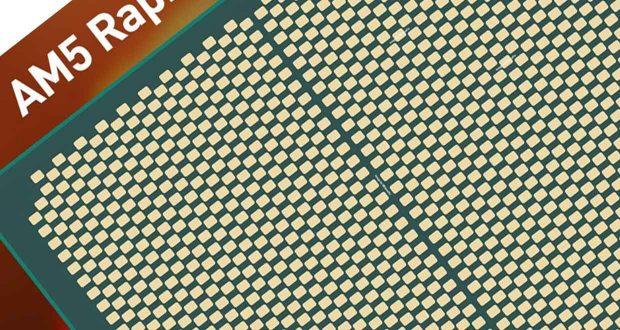 Face arrière d'un processeur Raphael d'AMD (Plateforme AM5) au format LGA 1718