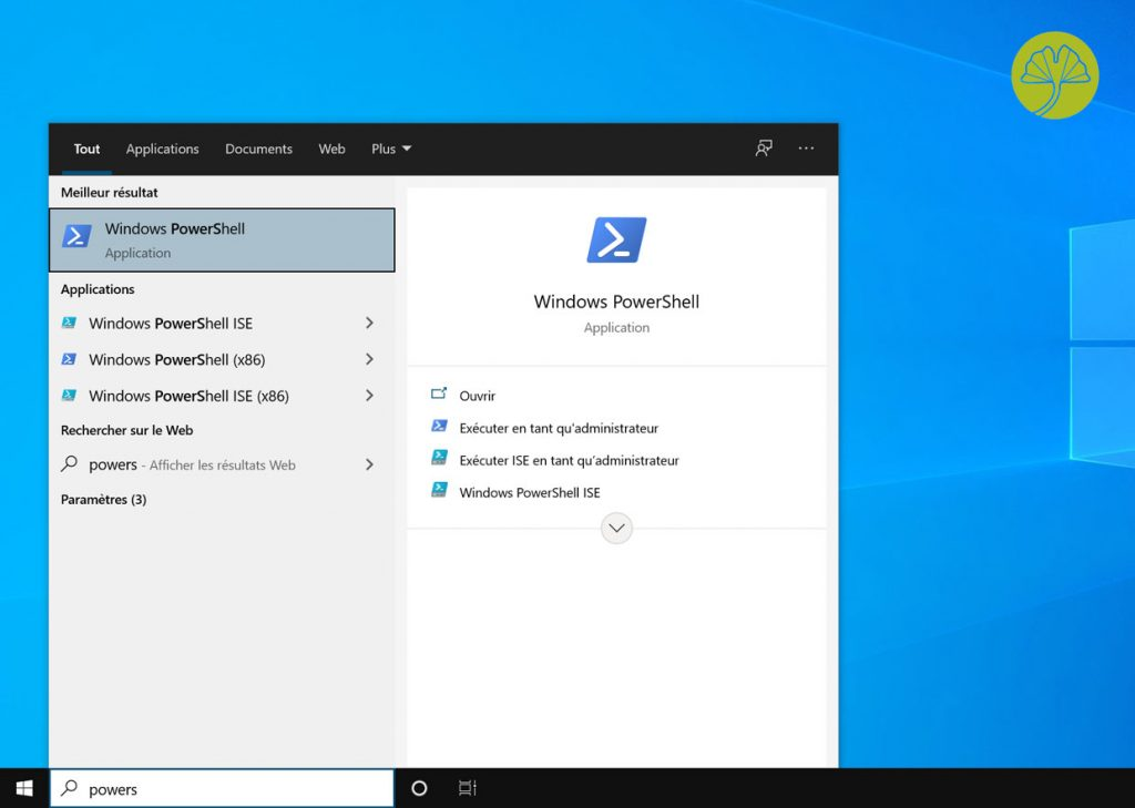 Windows 10 et PowerShell