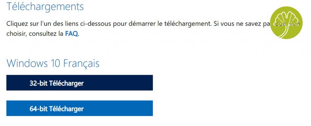 Windows 10 et le téléchargement des ISO d'installation